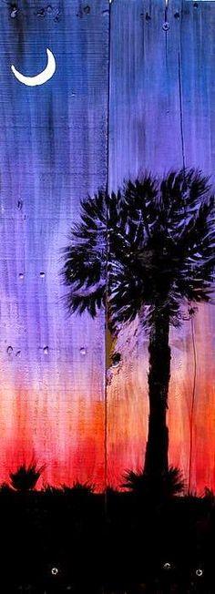 Palmetto Moon Canvas Print / Canvas Art by Ashley Galloway