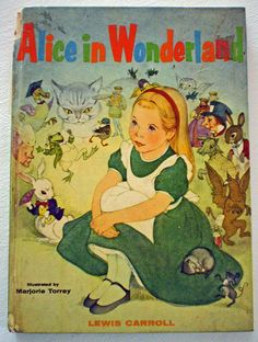 """Random House 1955 1st edition of """"Alice in Wonderland"""" by Lewis Carrol and illustrated by Marjorie Torrey"""