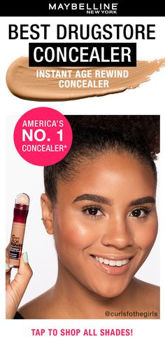 Instantly erase dark circles and brighten the under eye area with America's number 1 concealer, Instant Age Rewind! Tell us how you use this concealer and share a photo for a chance to be featured on our social channels. Tap to shop now on Amazon!