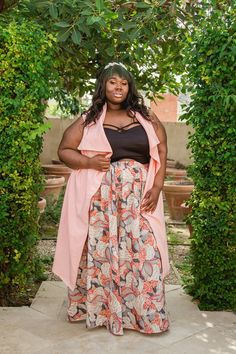 Plus Size Clothing for Women - Chicest Of Them All Vest - Pink (Sizes 14 to 32) - Society+ - Society Plus - Buy Online Now!