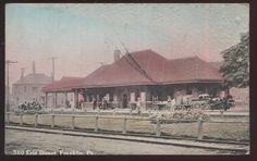 Postcard Frankilin Pennsylvania PA Erie Railroad Station Depot View 1907 | eBay