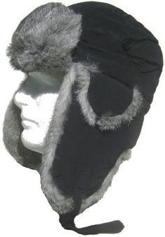854838d6939 Klondike Sterling Taslon Rabbit Fur Trim Trooper Nylon Aviator Hat  High  quality hats from Canadian hat   glove company Klondike Sterling.