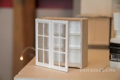 Useful Tutorial - How to make Paper Pantry/shelf #DollHouse Miniatures - Scale 1:2  Amazing stuff and forniture for miniatures and tiny reproduction