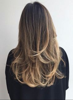 Perfect bayalage❤ brunette blonde long hair