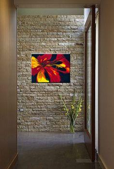 Fire Flower 24 x 18 peinture acrylique par CharlensAbstracts