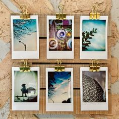 Instant Photo Display -:- Instax Mini Display Pallet - Mounted Photo - Instant Photo - Wall Decor - Art - Wood- Gold Clip Organizer by AdoreYouHome on Etsy Polaroid Display, Polaroid Wall, Photo Wall Decor, Wall Art Decor, Instax Mini Ideas, Exposition Photo, Instax Mini Film, Photo Deco, Polaroid Pictures