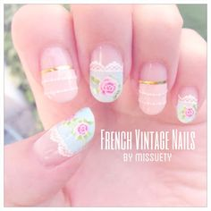 French Vintage Summer Nails 2013