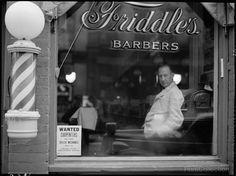 Jon Vachon, The Barber of Harrisonburg, 1941