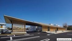 Okayama, Lounge, Canopy, Facade, Entrance, Construction, Exterior, Outdoor Decor, Color