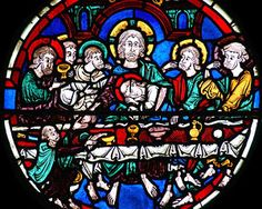 Bourges Cathedral, Bay 06 (The Passion) Panel 11 - the Last Supper