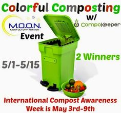 Enter for a chance to #win a CompoKeeper ($100 ARV) - available in four colors, this easy-to-assemble composter comes with 12 Compostable Bags and 2 Activated Carbon Filters. #Giveaway ends May 15 (11:59pm EST).