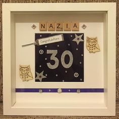 Personalised 30th Birthday Frame   #handmade #handcrafted #personalisedframes #birthday #purple #silver #owl #crystals #diamonds #gems #pearl #ribbon #stars #diamonte #keepsake #art #craft #design #leicester #creative #friends #family #bling #congratulations #birthdaypresent #30th #birthdaygift #gift #handmadeframes #loveframes by handmade_personalised_frames