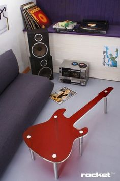 Funky Home Decor - Fun Home Accessories by Rocket Design - Family/music room - Music Furniture, Cool Furniture, Furniture Design, Table Furniture, Funky Home Decor, Diy Home Decor, Bedroom Themes, Bedroom Decor, Bedroom Ideas