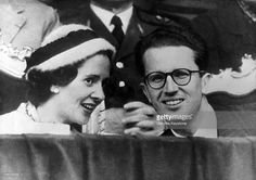 Queen Fabiola And King Baudouin 1St Of Belgium Attending A Soccer Game Between The Teams Of Barcelona And Hamburg During The European Cup Finals At Heysel Stadium In Brussels On May 3, 1961.