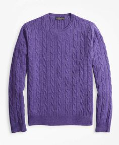 Timeless design with rich dimensional colors. lambswool spun in the UK. Perfect weight for layering. Preppy Sweater, Purple Sweater, Men Sweater, Crewneck Sweater, Winter Sale, Dark Denim, Brooks Brothers, Girls Shopping, Timeless Design
