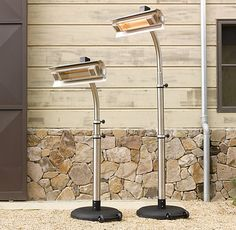 RH& Infrared Floor Telescoping Patio Heater:Stay warm in any weather with our ultra-efficient, durable and lightweight heater. Outdoor Heaters, Patio Heater, Pergola Patio, Patio Roof, Backyard Patio, Backyard Landscaping, Outdoor Chandelier, Outdoor Living Rooms, Storage Mirror
