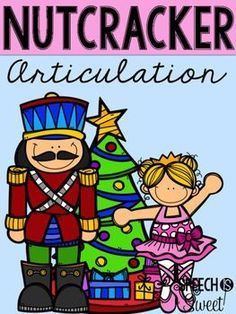 This Nutcracker themed articulation worksheets will make your Christmas speech therapy fun! It covers a wide variety of speech sounds in initial and final position. Your speech therapy students will love this fun articulation activity! | Speech is Sweet