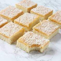 Gooey Butter Cake is a St. Louis specialty that we love. The Salvation Army provided grocery orders through social services. No Bake Desserts, Delicious Desserts, Swedish Cookies, Grandma Cookies, Cookie Cake Pie, Gooey Butter Cake, Swedish Recipes, Kitchen Recipes, Food And Drink