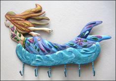 Tropical Fish Metal Art Designs - Handcrafted Tropical Decor #wallhanging  #gardenart   #pooldecor  #paintedmetal  #metalwallart  #Tropicaldecor