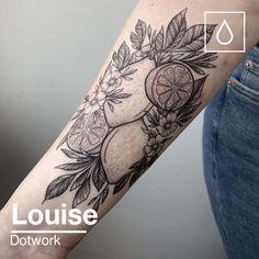 fruit tattoo black & fruit tattoo - fruit tattoo small - fruit tattoo sleeve - fruit tattoo traditional - fruit tattoo black - fruit tattoo black and white - fruit tattoo ideas - fruit tattoo small black Red Ink Tattoos, Sugar Skull Tattoos, Dope Tattoos, Black Tattoos, Sleeve Tattoos, Tatoos, Line Work Tattoo, Dot Work Tattoo, Garter Tattoos