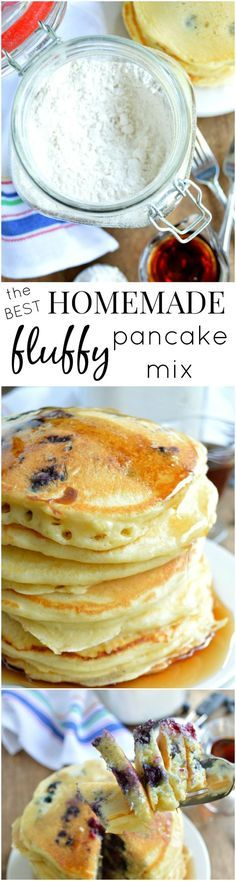 This recipe for the BEST Big Fat Fluffy Homemade Pancake Mix has been a hit for 2 years running! Printable gift tags are also included! Homemade Pancakes Fluffy, Fluffy Pancakes, Pancakes And Waffles, Fluffy Pancake Mix Recipe, Diy Pancake Mix, Recipe For Homemade Pancakes, Pancakes Mix Recipe, Pancakes From Scatch, Breakfast
