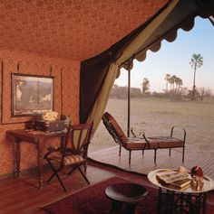 Jack's Camp is an authentic 1940's style tented safari camp. Spectacular vistas, creative surprises, expert guiding and superb cuisine all come together to create an experience that is completely different to any other. #safari #botswana #makgadikgadi #wildlife #alluringafrica
