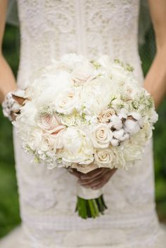 Textured White Peony, Garden Rose and Sweet Pea Bouquet   On Occasions of Atlanta, LLC https://www.theknot.com/marketplace/on-occasions-of-atlanta-llc-roswell-ga-814799   Bamber Photography https://www.theknot.com/marketplace/bamber-photography-dayton-tn-360372  
