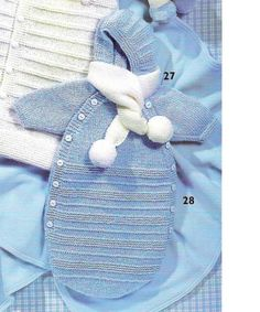 aide-patron-tricot-nid-d-ange-bébé-gratuit. Baby Clothes Patterns, Baby Knitting Patterns, Knitting Designs, Baby Patterns, Knitting Projects, Tricot Baby, Bunting Bag, Crochet Baby Cocoon, Baby Layette