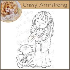Whimsy Crissy Armstrong Rubber Stamp -  Choir Girl