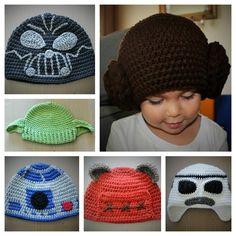 Handmade Star Wars Inspired Crochet Hats - Newborn to Adult by CrochetByDana on Etsy https://www.etsy.com/listing/246152332/handmade-star-wars-inspired-crochet-hats