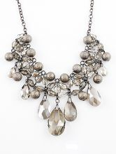 Shining+Rhinestone+Bubbles+Collar+Necklace+$11.26