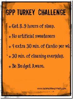 GPP fitness Turkey Challenge!