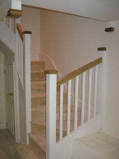 View our domain for more that is related to this fantastic photo Staircase Outdoor, Timber Staircase, White Staircase, House Staircase, Oak Stairs, Staircase Railings, Basement Stairs, Staircase Design, Staircases