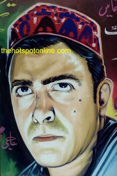"""Lollywood Legends - not quite yet, but eventually.  Shaan the modern one man film """"industry"""" from a hand painted poster of the movie called """"Musalmaan""""."""