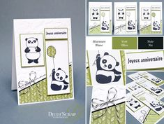Stampin'Up! by Djudi'Scrap - Cartes Anniversaires « Set Pandas Festifs / Party pandas Stamp set »