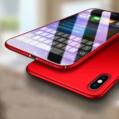 Amazon.com: iPhone X case Shockproof Slim Fit Protective Hard TPU Case Cover for iPhone X (Red): Cell Phones & Accessories