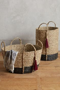 Balinese Tassel Basket | Anthropologie