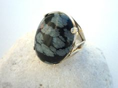Snowflake Obsidian Sterling Silver, ring