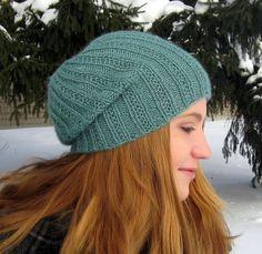 Erssie Knits - Pearmain Fancy Ribbed Hat