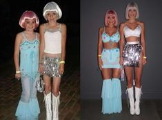 Kendall and Kylie Jenner Recreate Their Childhood Halloween Costumes - E! Online Kendall Jenner Halloween, Kendall And Kylie Jenner, Movie Halloween Costumes, Cute Halloween, Halloween Ideas, Kylie Baby, Childhood, Jenners, How To Wear