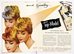 Vintage hairdressing advert from HJ, dating back to the 1950s