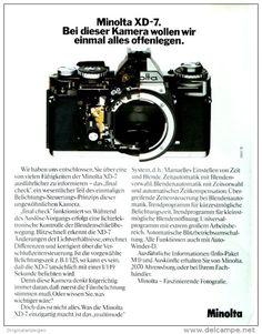 Original-Werbung/ Anzeige 1978 - MINOLTA  KAMERAS - ca. 200 x 240 mm