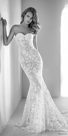 atelier pronovias 2018 bridal strapless sweetheart neckline full embellishment romantic fit and flare wedding dress chapel train (19) mv -- Atelier Pronovias 2018 Wedding Dresses #wedding #bridal #weddings