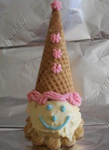 Ice cream clowns are a fun way to cool off on a warm day. We use to serve these at all the kids birthday parties when they were young.