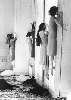 homeofthevain:  Pina Bausch, Blaubart, 1977 (performance still) Via foxesinbreeches.