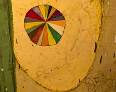 by Squeak Carnwath, a close up showing her great color sense and fluidity of technique.