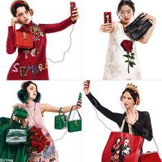 Selfie Fever atDolce and Gabbana fall winter 2015 accessoriesad campaign.