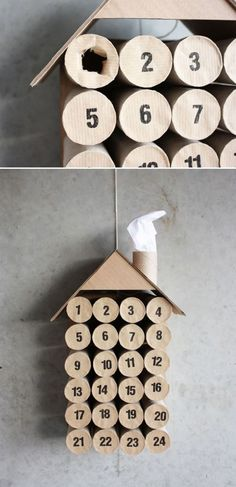 Cheap & easy idea for an advent calendar