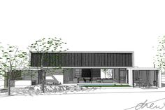 drew architects | new house linger longer | perspective