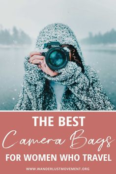 Tired of boring DSLR camera bags for women? Here are some of the best stylish camera backpacks, cross body bags and sling bags that look cute and fashionable. These bags are perfect for women who travel! #camerabags #photography #camerabag #travel #fashion #traveltip #camera #packingtip